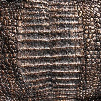 Caiman Leather - Black Bronze
