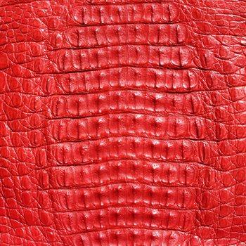 Caiman Leather - Bright Red