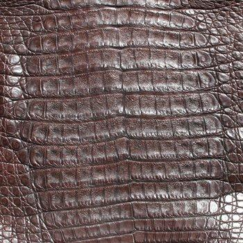Caiman Leather - Chocolate