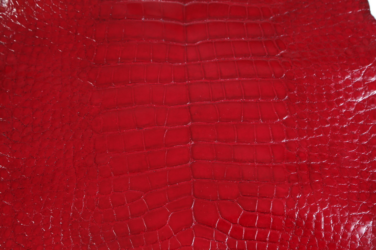 Alligator Belly (45cm) in Poly Millennium Ruby Red