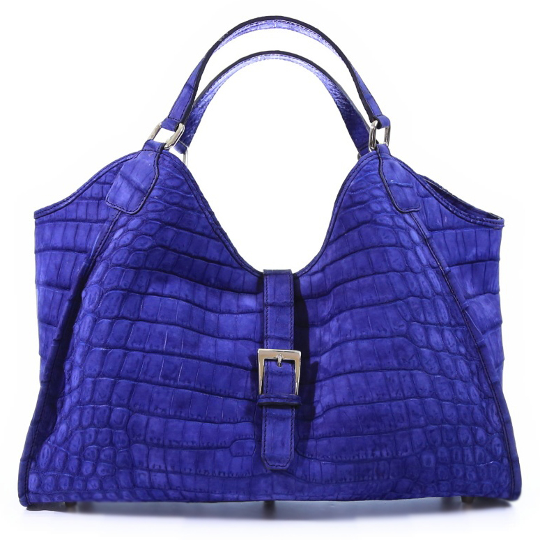 Colette 14' - Electric Blue Nubuck Crocodile