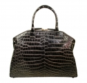 Italo - Two Tone Black & White Crocodile