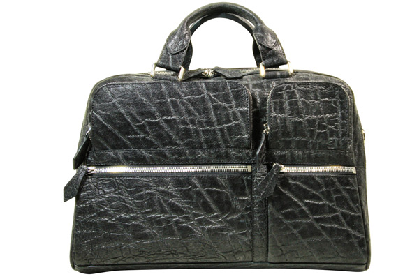 Messenger Bag in Black Elephant