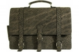 Mens Messenger Bag in Elephant in Two Tone Grey