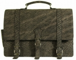Mens Messenger Bag - Elephant in Two Tone Grey
